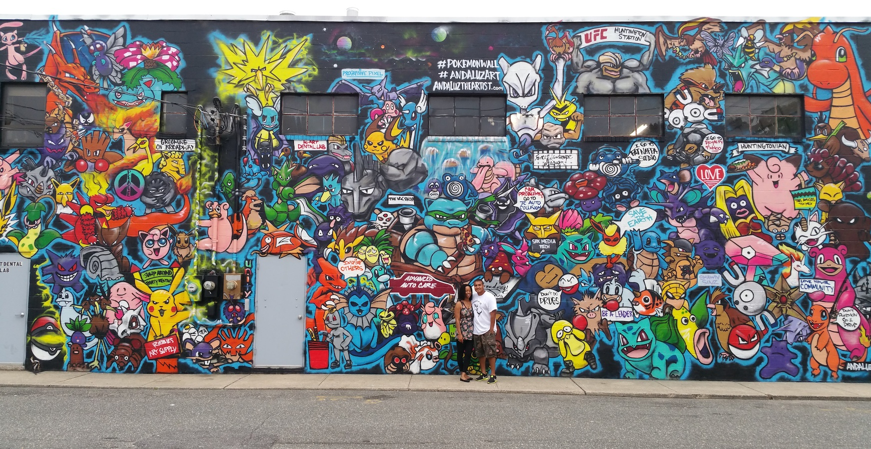 Icymi huntington artist grabs attention of pok mon fans for Creating a mural