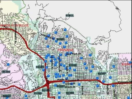 map of sex offenders in pasadena in Billings