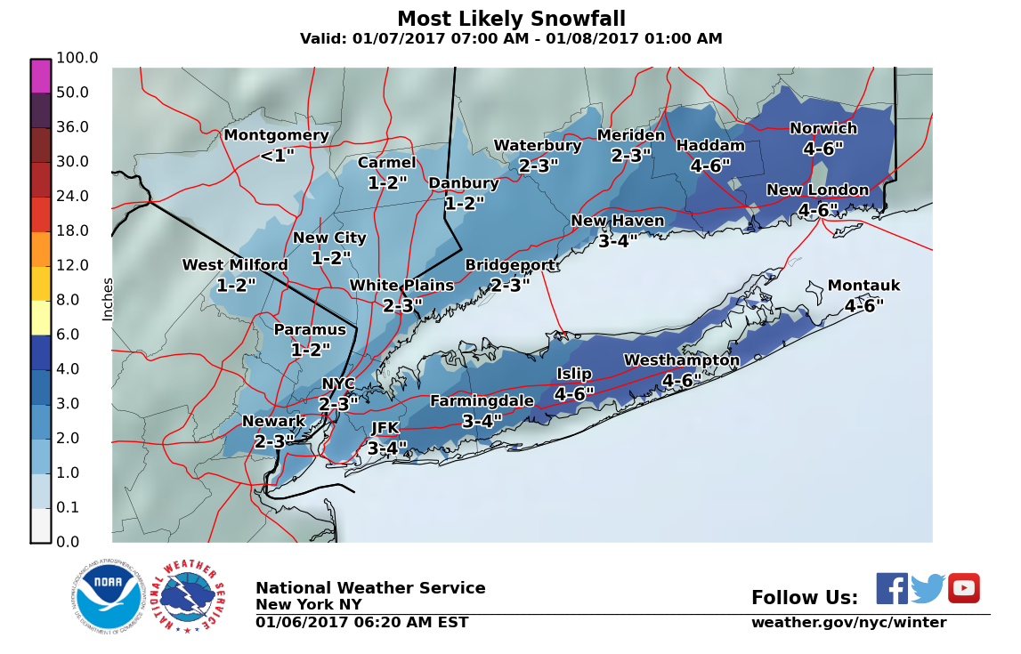 Eastern Long Island bracing for up to 12 inches of snow