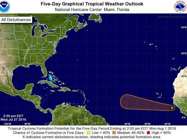 Tropical Disturbance Forms in Atlantic