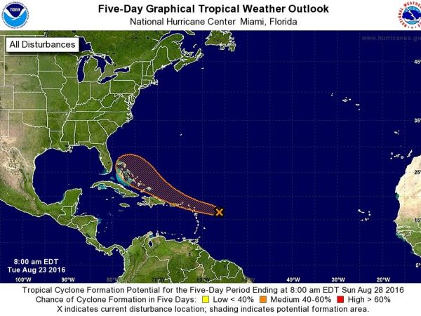 Tropical Storm Gaston Forms Disturbance Eyes Florida