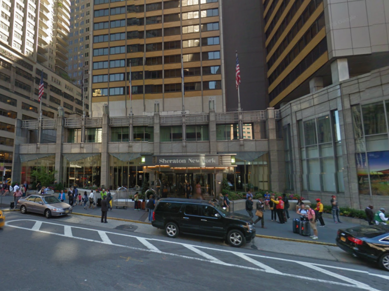 Two alarm fire breaks out in parking garage at sheraton for Ny city parking garages