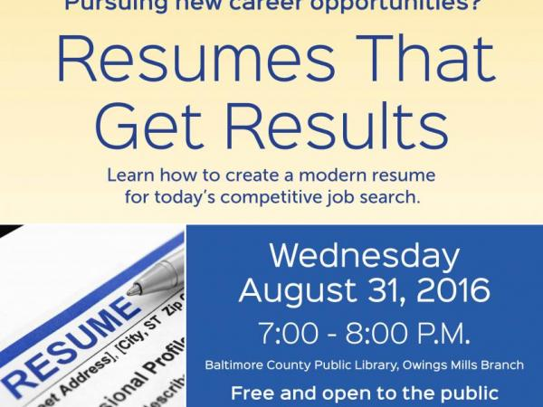 resumes that get results pikesville md patch