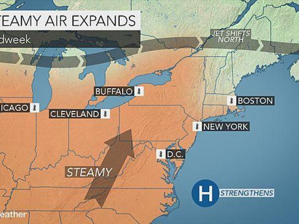 Forecast: Sunshine, temperatures in the upper-80s expected