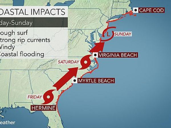 Tropical Storm Hermine strengthens on way to Florida