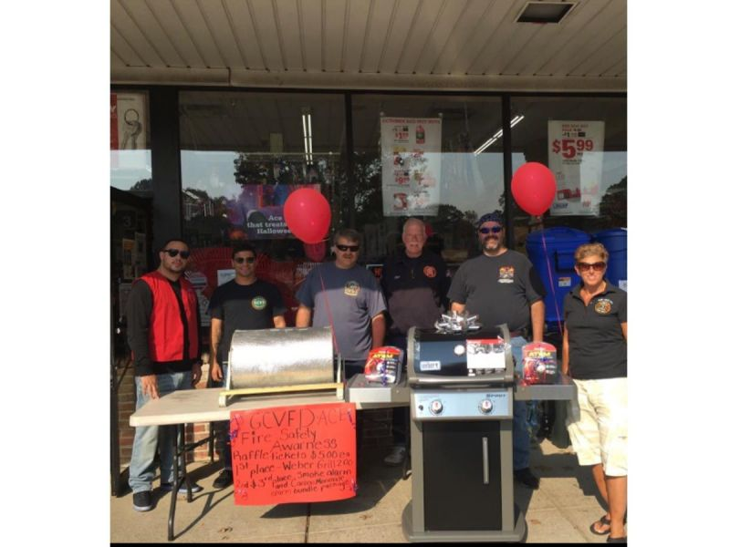 Ace Hardware Raises 1 1k For Glen Cove Fire Department