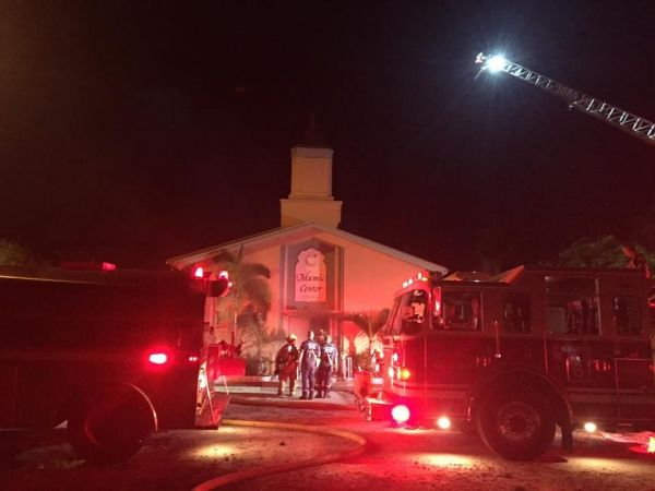 Thug 'sets fire to mosque' attended by Orlando Pulse shooter
