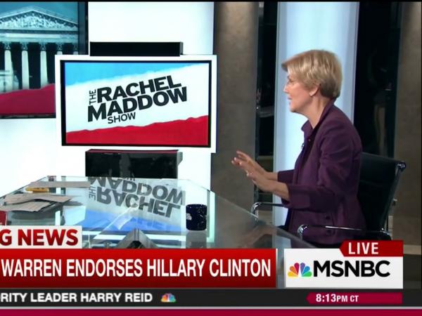 Warren at Clinton's Brooklyn campaign headquarters Friday