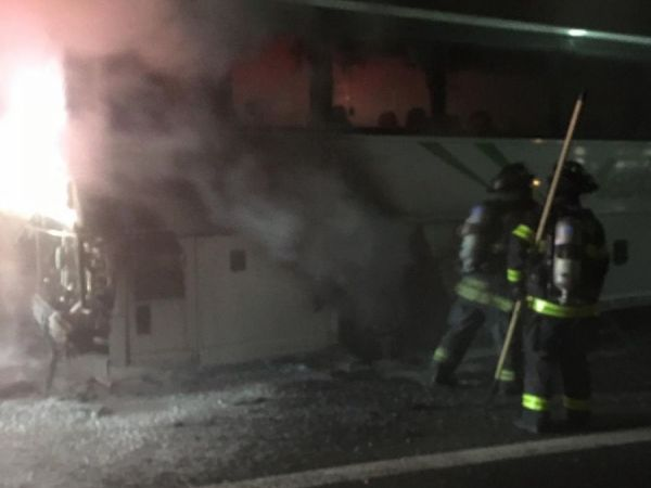 Bus Fire On I-880 In San Jose
