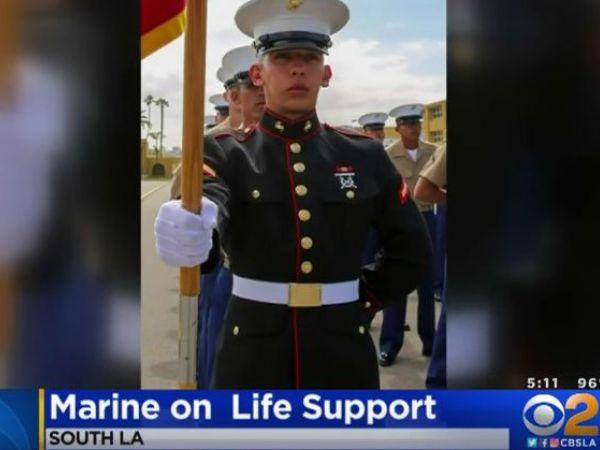 Marine shot while on leave in Los Angeles dies