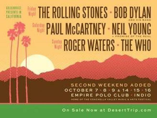 Additional Passes for Desert Trip Festival, aka