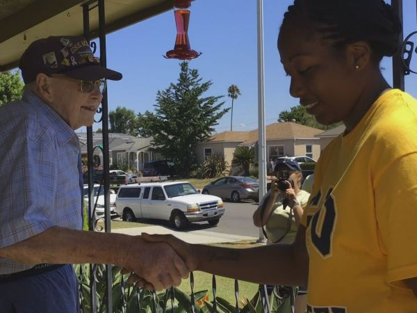 WATCH: Southern California WWII Veteran Has 'Best Day Ever' When Navy Surprises Him with Song