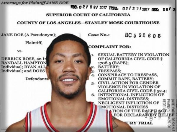 A look at the sexual assault lawsuit against Derrick Rose