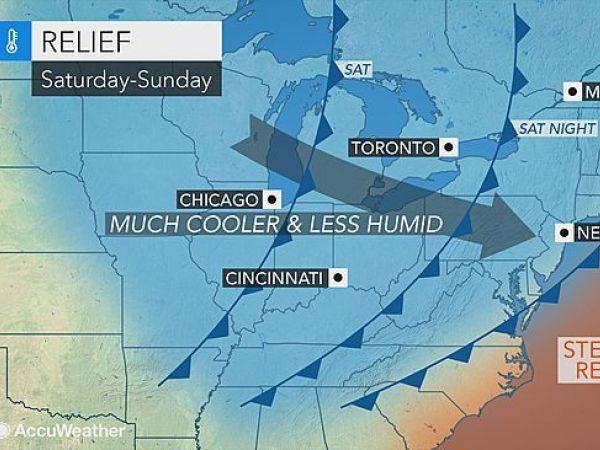 Thursday forecast: sunshine, high of 92