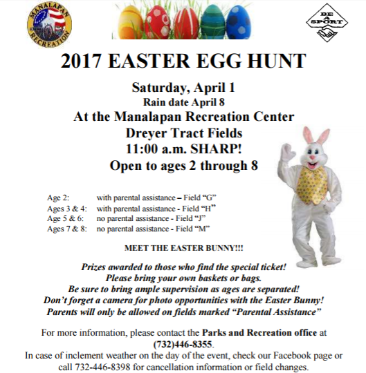 Easter Egg Hunt set for April 8