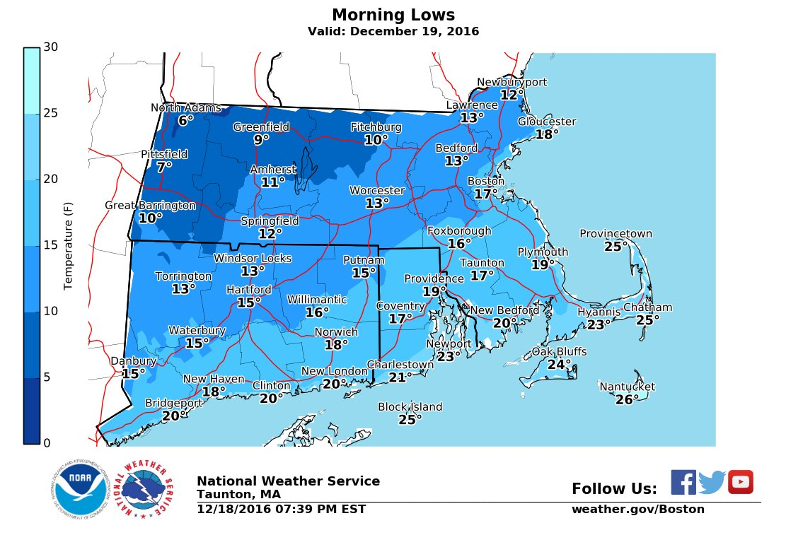 Massachusetts Weather Forecast Monday Morning Arctic Lows - Us weather map lows