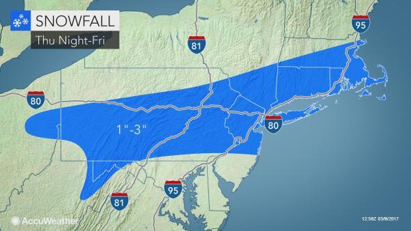 Snow, freezing rain fall on Harford County Friday