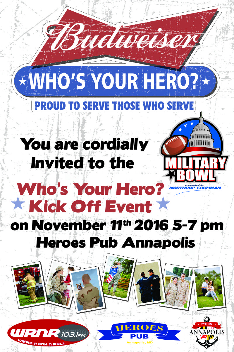 military bowl announces budweiser who s your hero promotion men and women who are nominated as heroes and look forward to the opportunity to recognize several of them on gameday so that we can let them know how