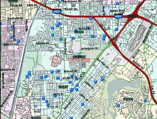surprise az sex offenders map in Costa Mesa