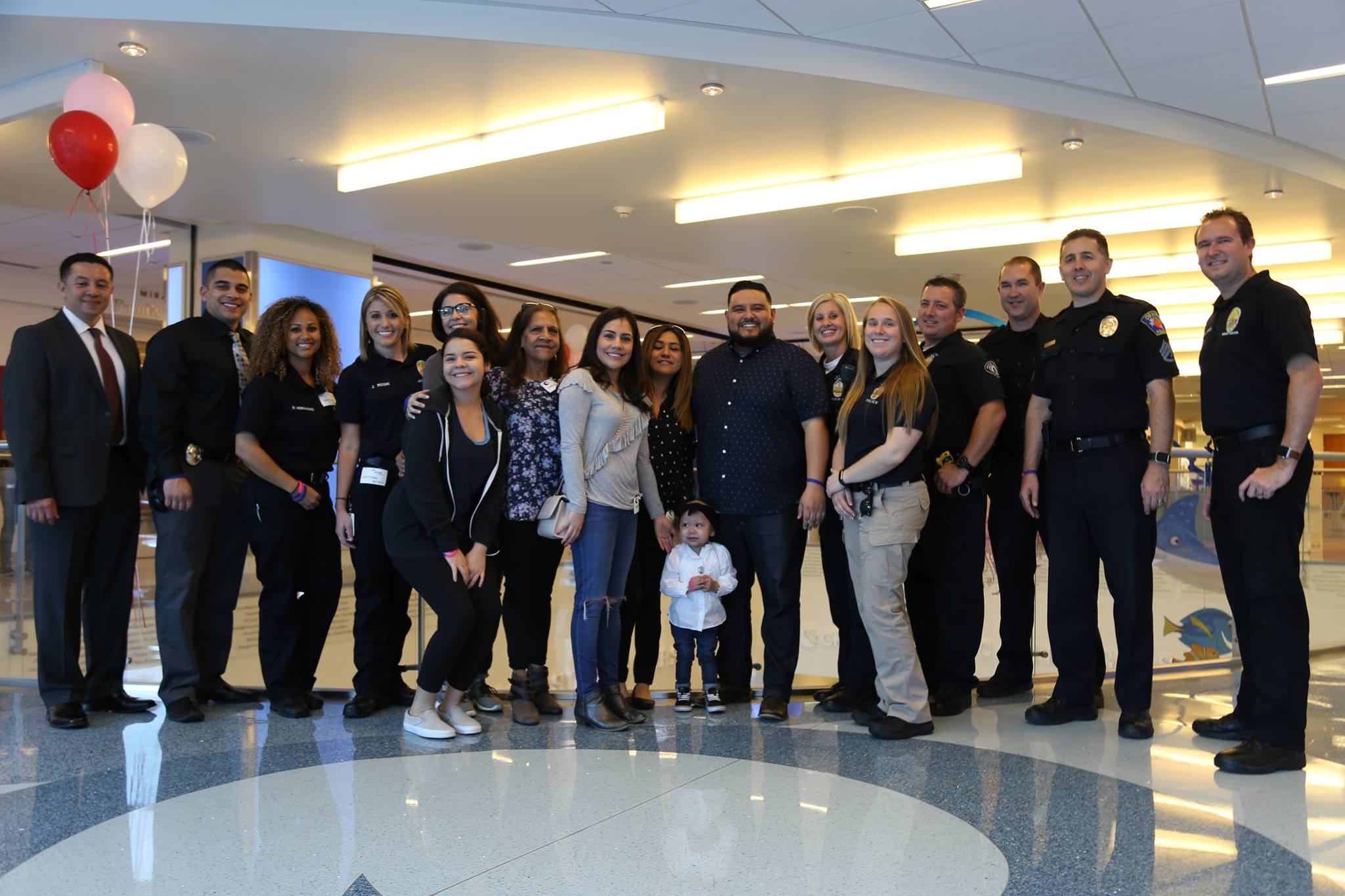 laguna beach police department shows love to girl with leukemia