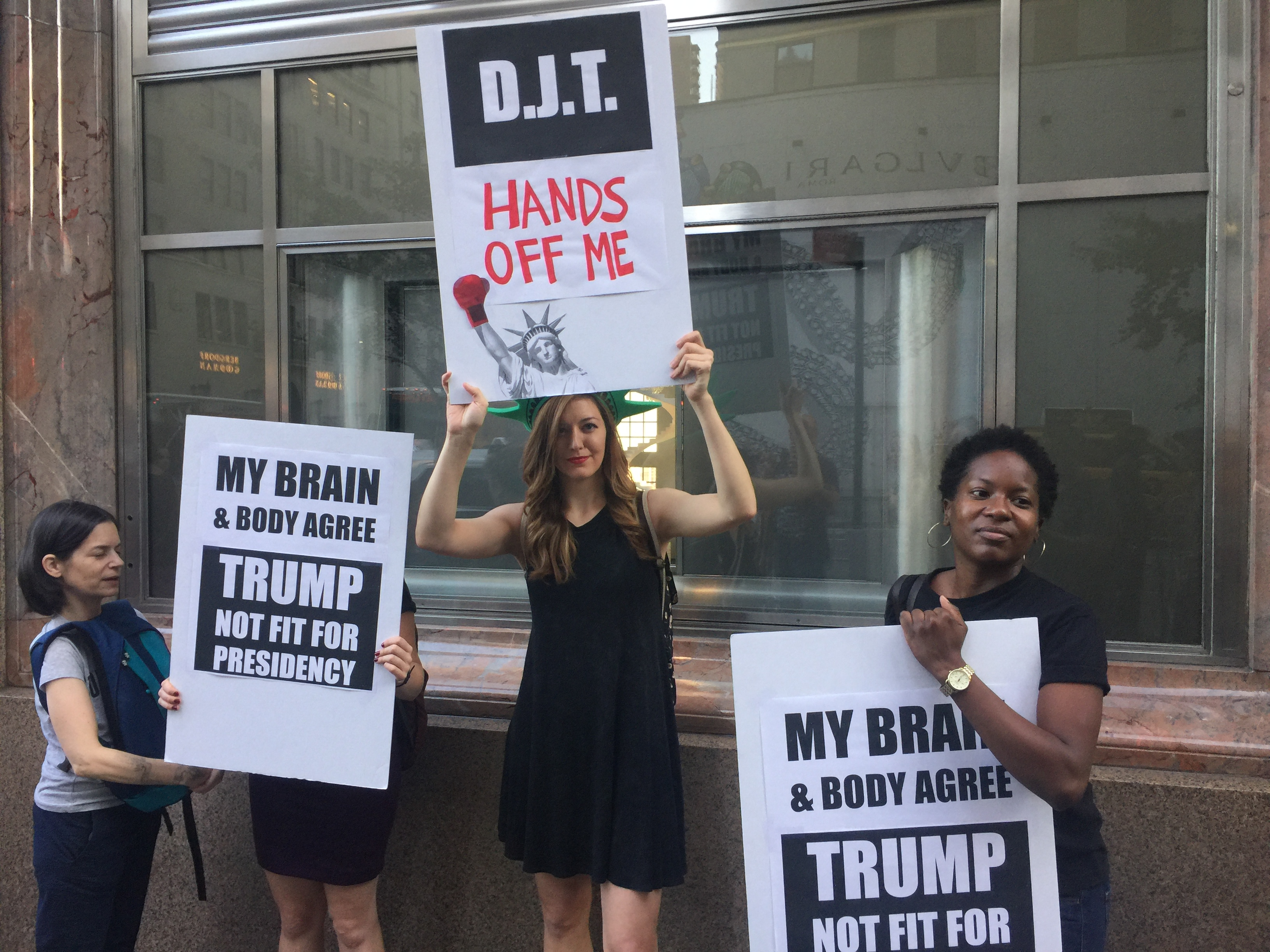 Women S Rights Protesters Outside Trump Tower Tell