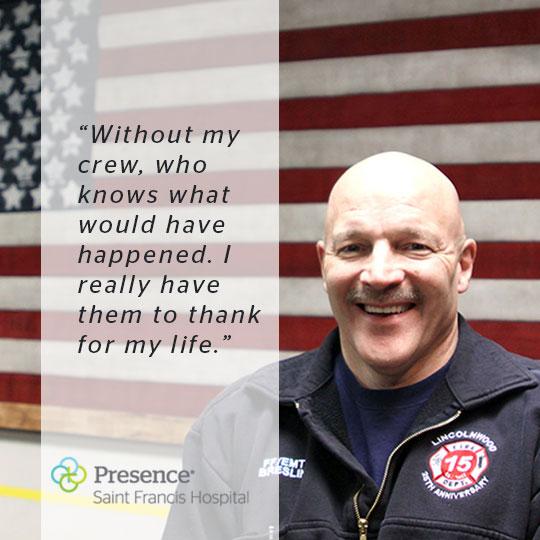 Lincolnwood Fireman Tim Breslin