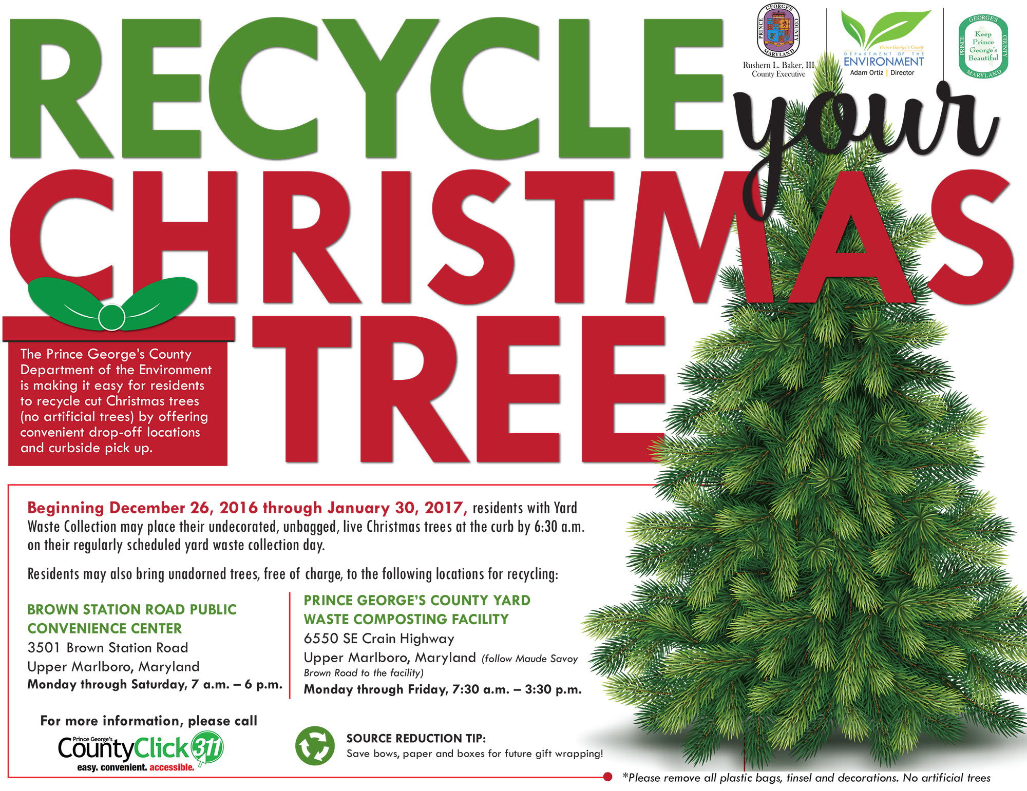 Be a #HolidayHero- Recycle Your Christmas Tree - Bowie, MD Patch