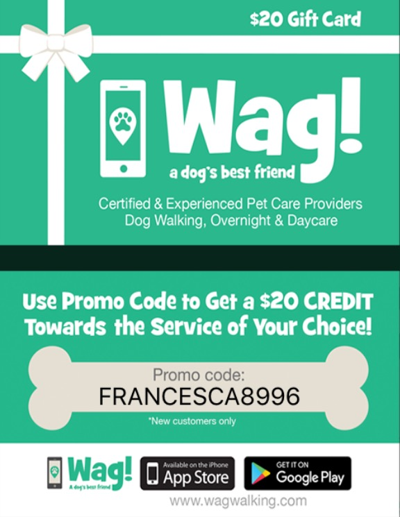 Get $20 Off With Wag Walking Coupon Code HAPPY20