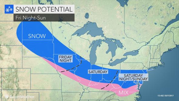 Snow will give way to warmer temperatures