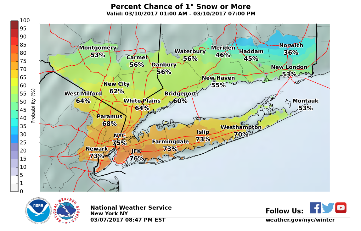 Weather Alert For Tri-State Area: Snow Expected On Friday Morning