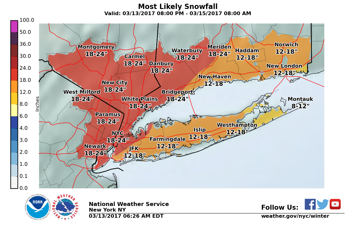 Long Island Weather Forecast Storm Track Shifts What That Means - Us weather map next 24 hours