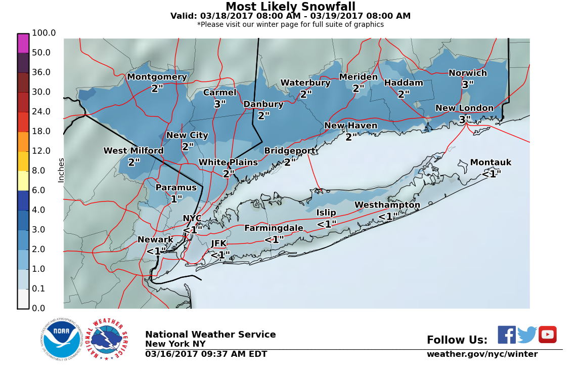 Light snow probable in York Friday morning