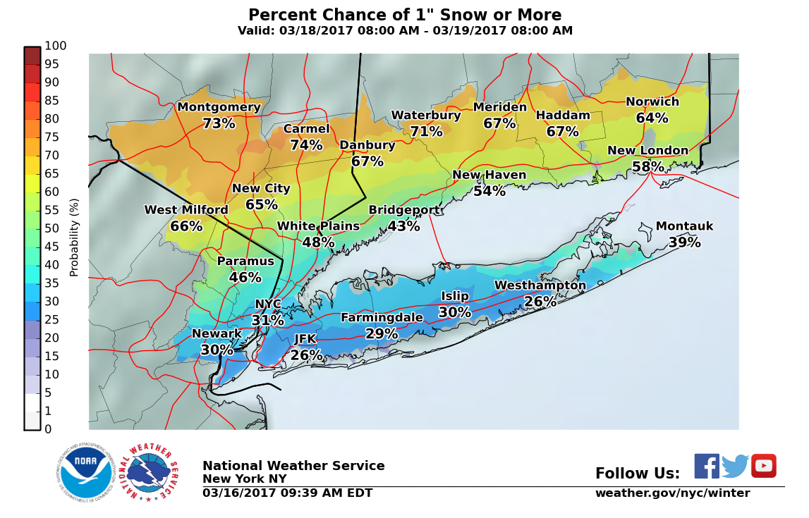 Winter Weather Advisory Issued for Greenwich for Thursday Night through Friday Afternoon