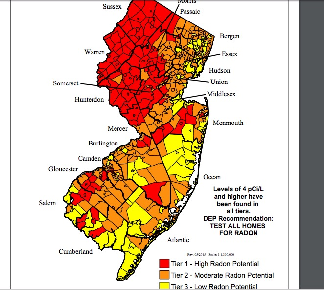 These New Jersey Towns Possibly Exposed To CancerCausing Gas - New jersey towns map