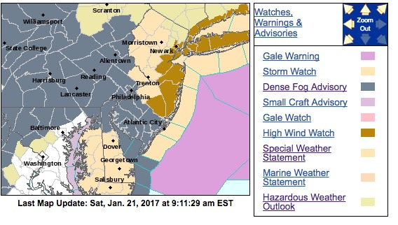 Long Island and Jersey Shore bracing for effects of Nor'easter