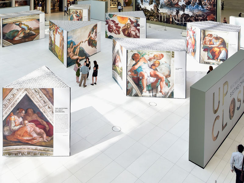 Exhibit of sistine chapel artwork at garden state plaza opens this weekend video paramus nj for Is garden state plaza open today