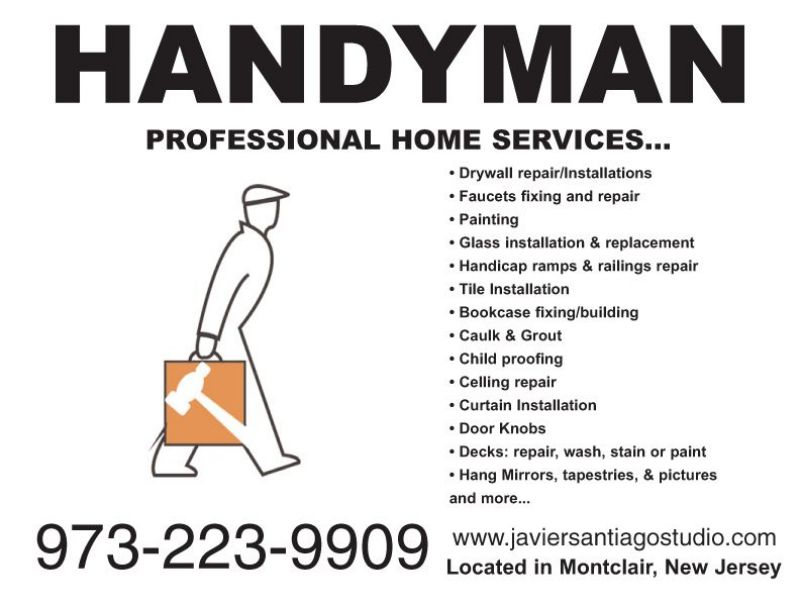 Handyman Services In Montclair 973 223 9909 Montclair