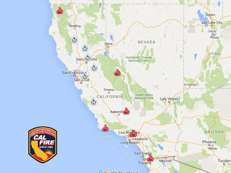California Wildfire Latest Large Fires Deaths Hundreds Of - Cal map