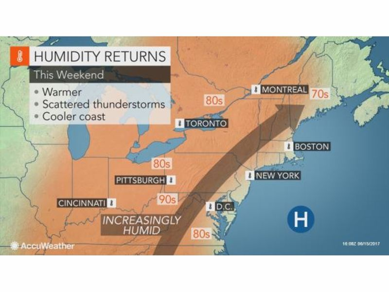 Rising Temps Humidity Bedfords Weekend Weather Bedford NY Patch