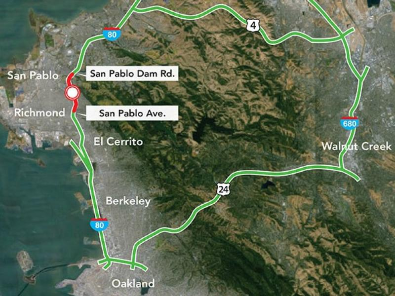 Reminder I Closed For Part Of This Weekend El Cerrito CA Patch - Us map i 80