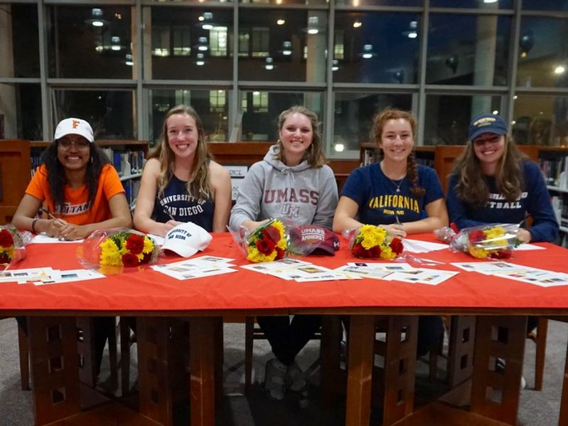 5 Berkeley Students Sign National Letters Of Intent - Berkeley, Ca