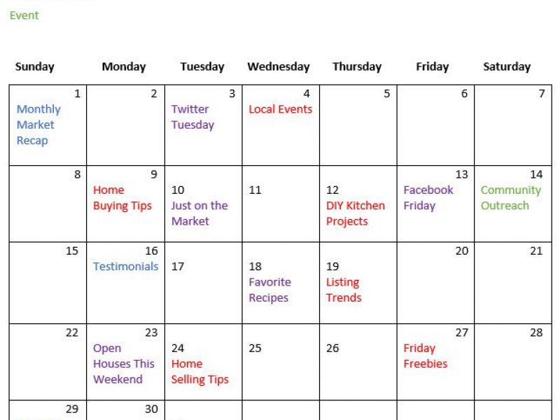 5 Reasons Why Creating a Real Estate Marketing Calendar Helps Your ...