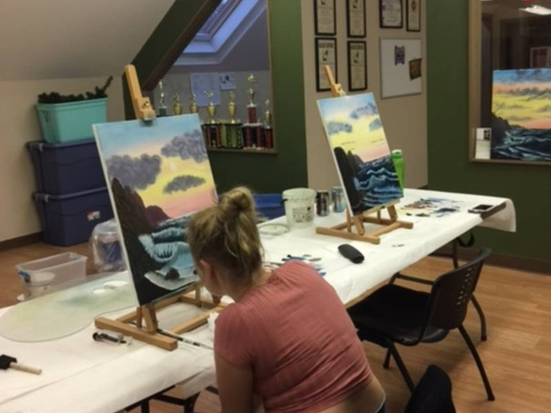 Bob Ross Style Painting Class