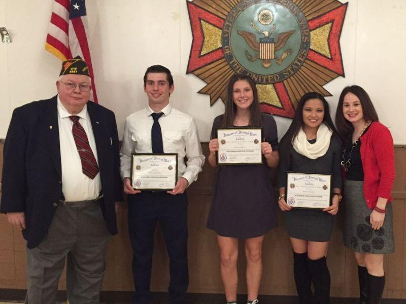 Brick memorial trio honored in vfw essay contest brick nj patch