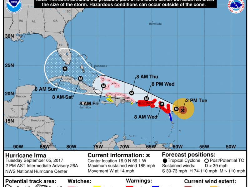 When Will Hurricane Irma Hit Puerto Rico Across America
