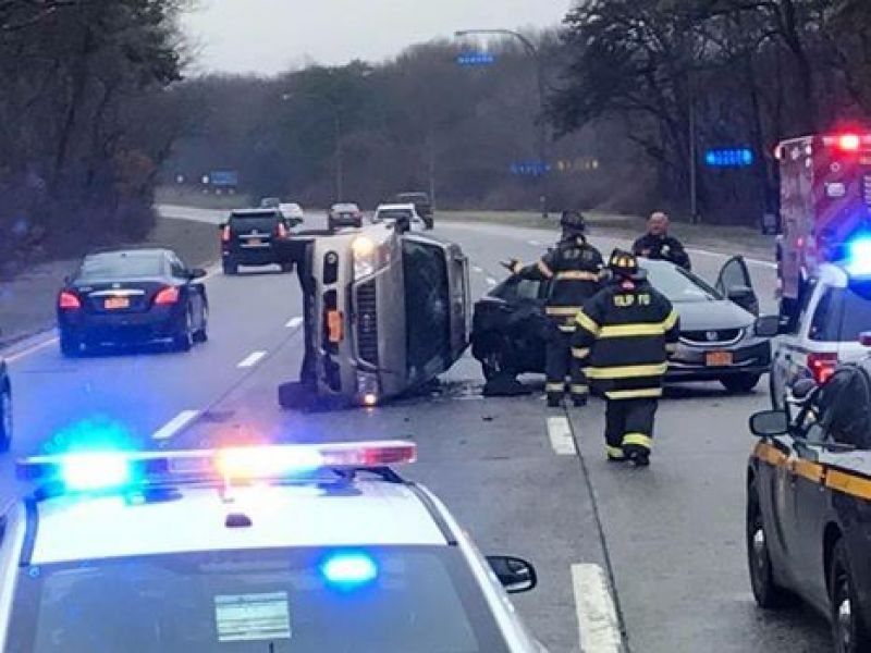 Three Injured In Southern State Parkway Crash Islip Ny Patch