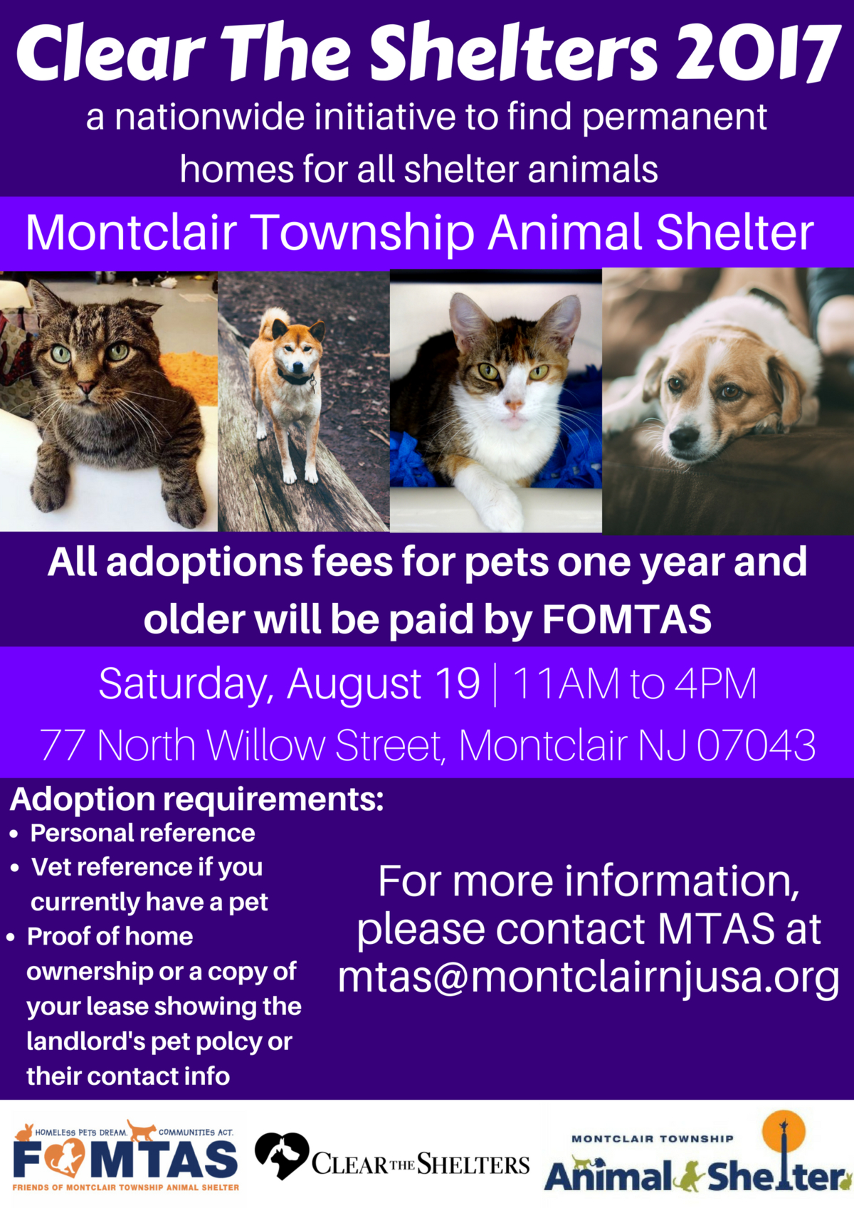 Photo: Friends of Montclair Township Animal Shelter