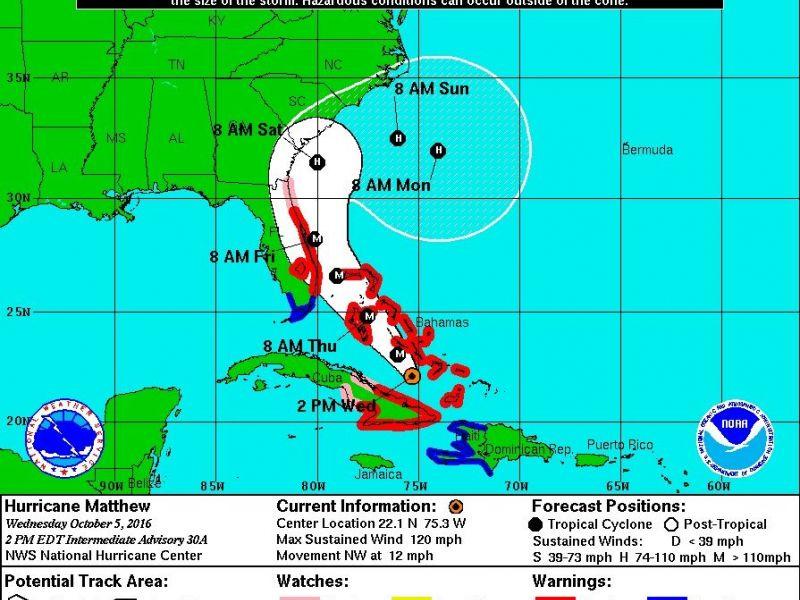 Hurricane Matthew Evacuations Begin On The East Coast