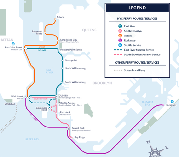 nyc s huge new ferry network route maps schedules fares