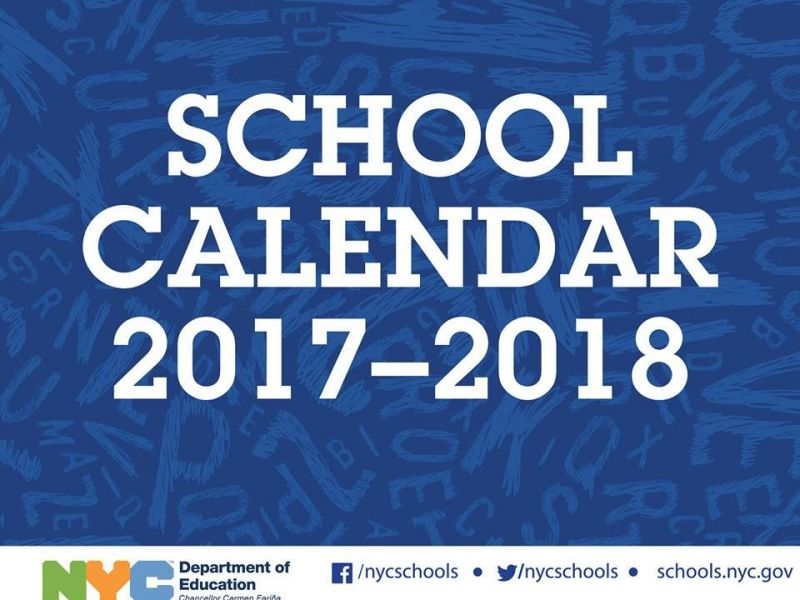 Nyc 2017-18 School Year Calendar: First Day Of School, Vacations